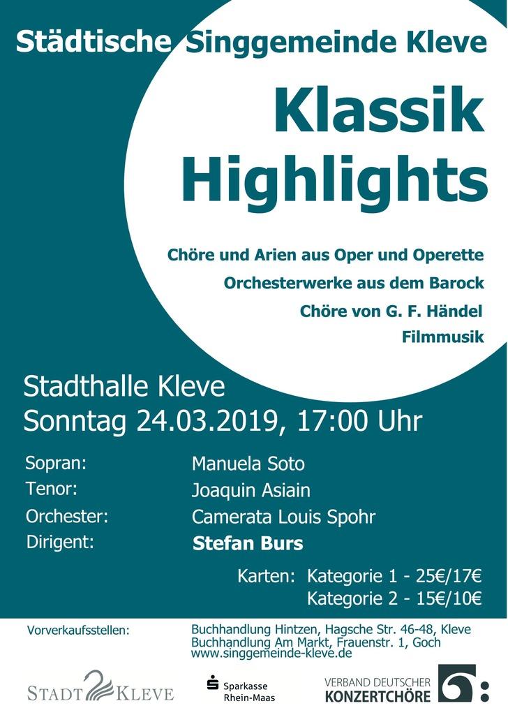 Klassik Highlights Plakat